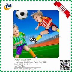 Double sided glossy matte photo paper