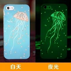 beautiful custom design Glow Phone Case for Iphone 4 5 5S 5C