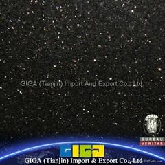 Hot sale Polished Black Galaxy granite tiles