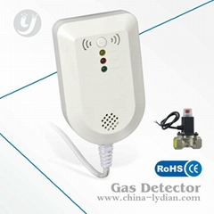 Home LPG Gas Leak Detector with Manipulator Shut Off Valve Natural Gas Detector