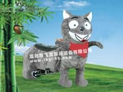 灰太狼毛絨動物玩具車