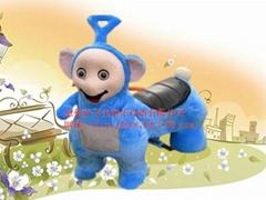 天线宝宝毛绒动物玩具车