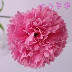 香皂花康乃馨仿真花 花頭