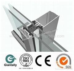 aluminum curtain wall profile