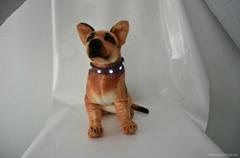 New Genuine Leather Jewel flashing LED dog collar