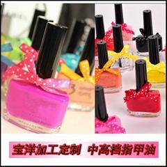 sweet nail polish with bowtie