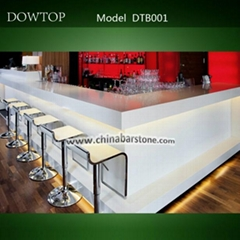 U-shape Led lighting commercial bar counter for sale