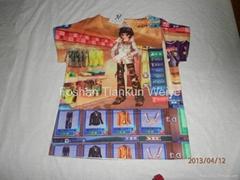 fashionable designed hot selling digital all over printing custom made 3d tshirt