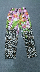 Stock now of 100% Polyester All Over Printing Ladies Trousers