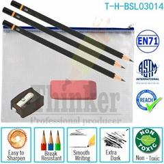 Black Wooden Pencils Pin