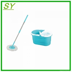 360 degree hand press cleaning spin mop