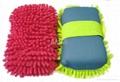 Microfiber Chenille Sponge glove