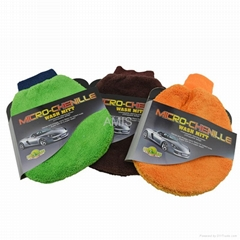 terry mitt car cleaning gloves