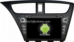 Android system car dvd for Honda 2014 Civic