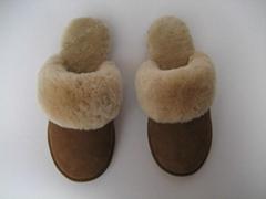 Warm sheepskin slipper