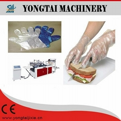 disposable HDPE plastic hand glove making machine