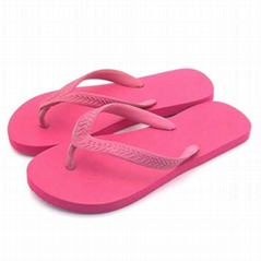 Rubber vamp EVA sole flip flop casual flat slipper for girls womens