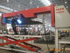Displacement welding machine
