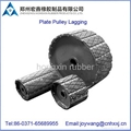 Removable pulley lagging for conveyor system with abrasion resistant 2