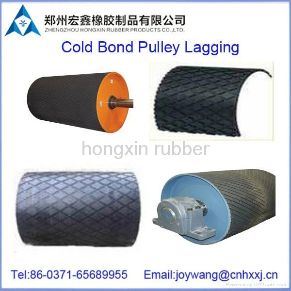abrasion & flame resistant pulley lagging for mine industry 1