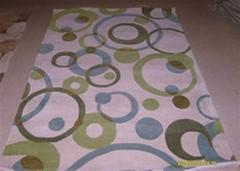 手工羊毛膠背機織地毯