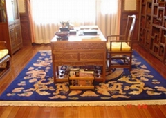 手工腈纶胶背机织地毯