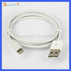 Soft TPE Material USB 2.0 Cable for iPhone5