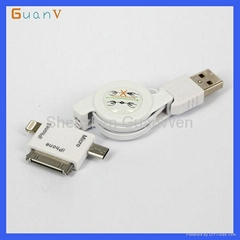 3 in 1 Electronical USB Wire for Universal Mobile Phones