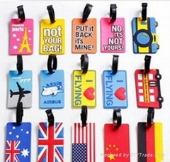 silicone baggage tag holder