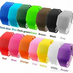 New arrival eco friendly jelly candy silicone watch