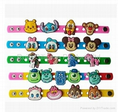 Silicone Bracelet with decoration holes for children