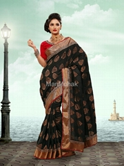Matwali - Fascinating Black Color Georgette Saree