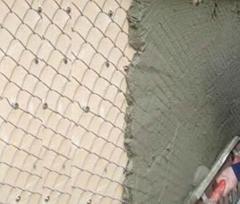Light type chain link plastering mesh - galvanized or black mesh