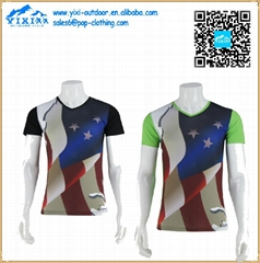 Fashion dye sublimation wholesale round neck t shirt