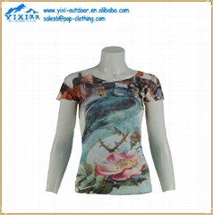women promotion casual blank sublimated t shirt