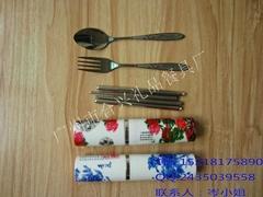 中国风笔筒便携旅行餐具套装