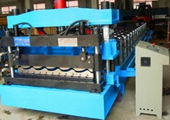 factory colored steel tile roll forming machine