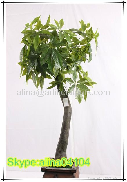 Money Plant Decoration In Living Room: Pachira Money Tree Plant Artificial Tree Plant For