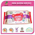 Popular 100% biodegradable OEM 80pcs comfortable touch Baby wet wipes 4