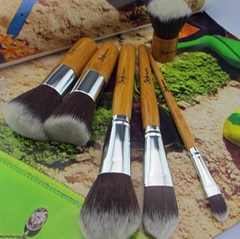 6pcs bamboo beauty makeup brush