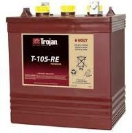 AUTHENTIC Trojan T-105-RE Premium Line Deep Cycle Flooded Battery