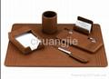 leather desk set with 6pcs