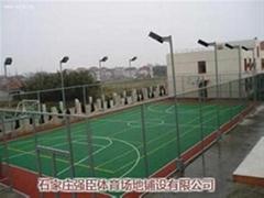 塑膠PU籃球場