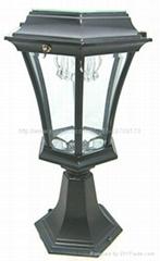 Solar Energy Lamp Garden Pedestal Bollard LED Light Aluminum Wall Lamp