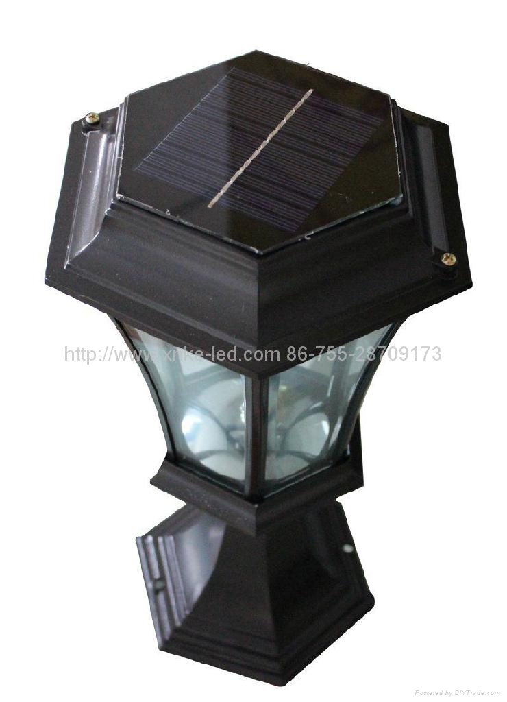 Solar Energy Lamp Garden Pedestal Bollard Led Light