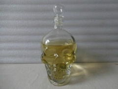 Skull bottle glass