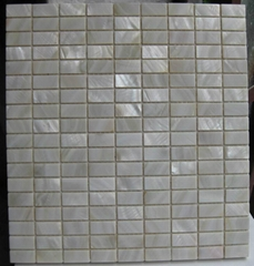 Freshwater Shell Mosaic and Rectangle Shell Mosaic tiles