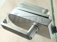 glass door lock and hinge