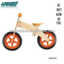 ANB-003 Wooden Kids Balance Bike Wooden baby walker (Accept OEM Service)