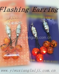2014 Halloween party decorations flashing led earrings